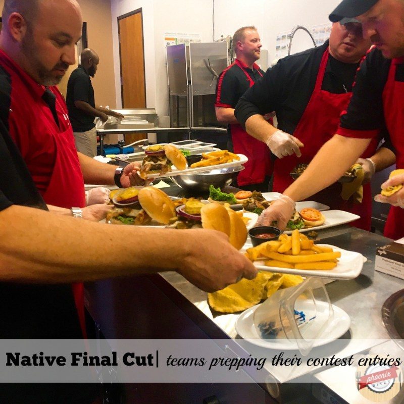 Native Final Cut: Team prepping dishes in the test kitchen