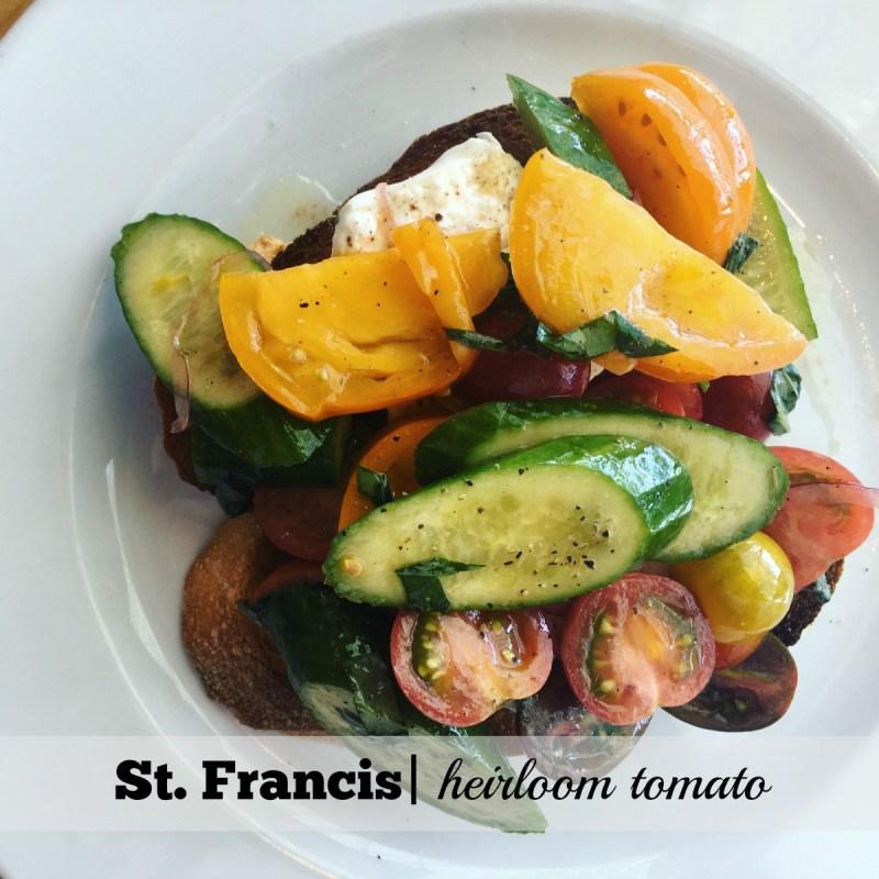 St. Francis Summer Menu: Heirloom Tomato