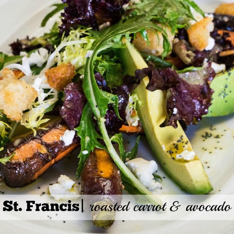 St. Francis Summer Menu: Roasted Carrot & Avocado