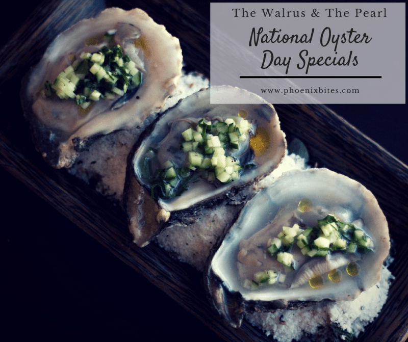 National Oyster Day Specials at The Walrus & The Pearl