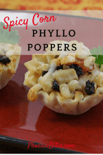 Spicy Corn Phyllo Poppers