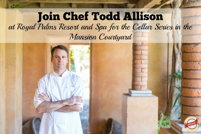 Join CHef Todd Allison for the Cellar Series in the Mansion Courtyard