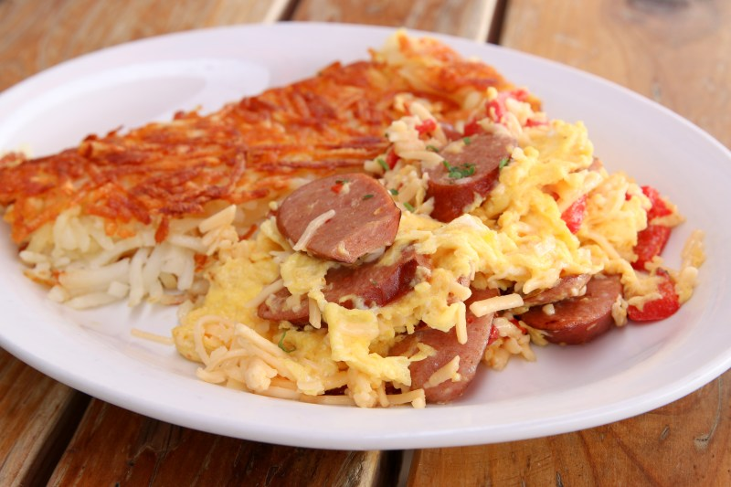The Reindeer Sausage Scramble avaialble ow throughthe end of the month at the Original Breakfast House