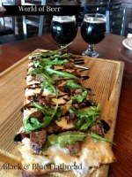 World of Beer Black and Blue Flatbread