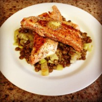Lentils with Mustard Herb Butter