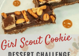 Girl Scout Cookie Dessert Challenge Tagalong Crunch Bars