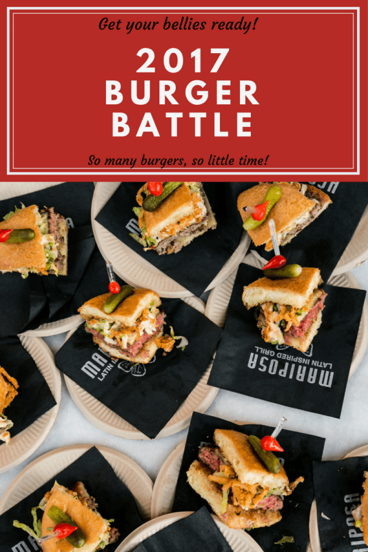 2017 burger battle on march 3rd