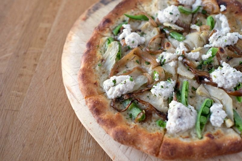 True Food Kitchen's roasted artichoke pizza
