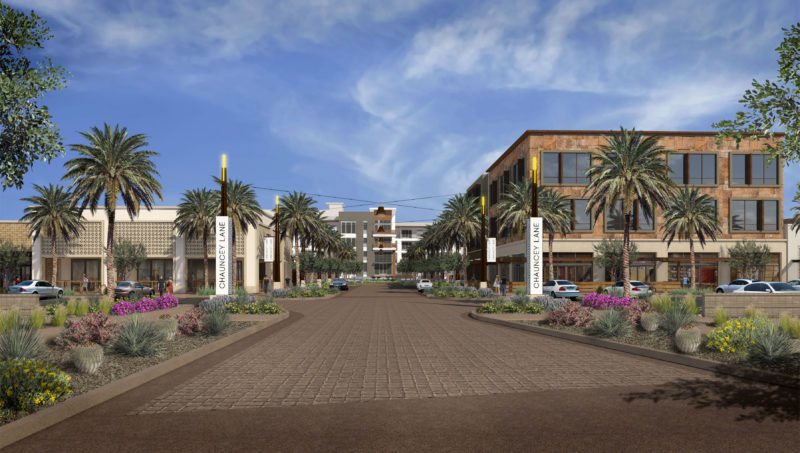 Artists rendition of view at Scottsdale's coming Chauncey Lane