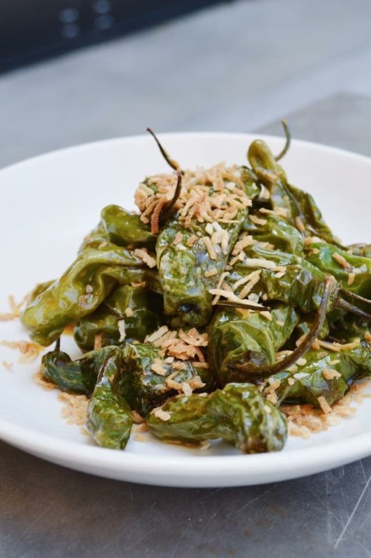 Twisted Grove Parlor's Shishito Peppers with Soy Caramel