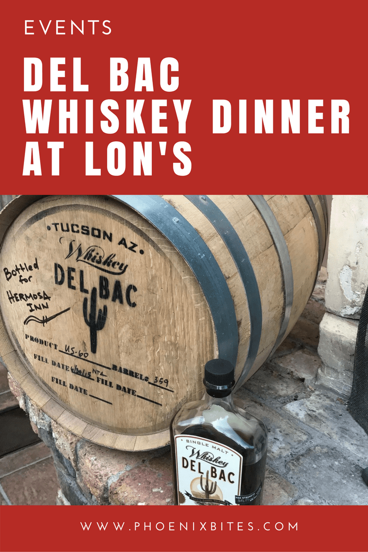 Del Bac Whiskey Dinner at LON's