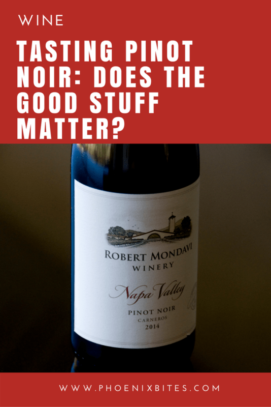 Tasting Pinot Noir- Does the good stuff matter-