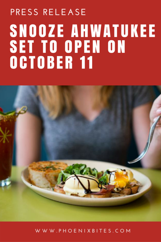 Snooze Ahwatukee Set To Open On October 11