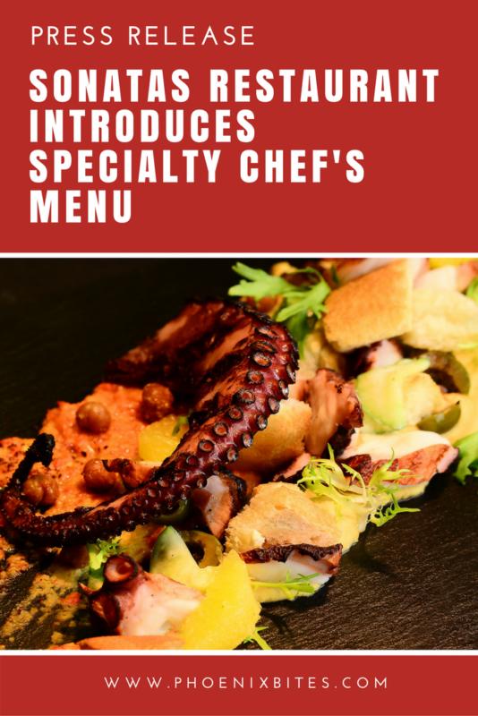Sonatas Restaurant Introduces Specialty Chef's Menu