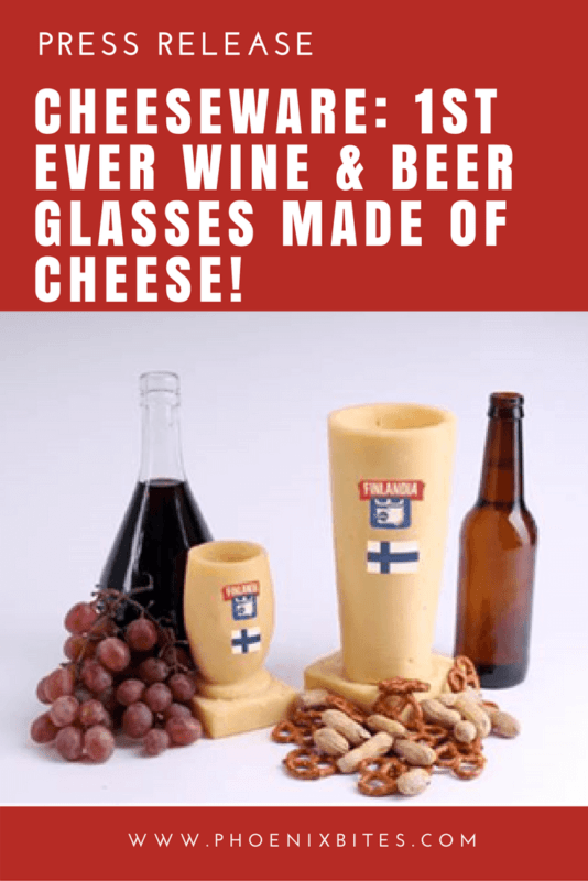 Cheeseware- 1st ever Wine & Beer Glasses Made of CHEESE!