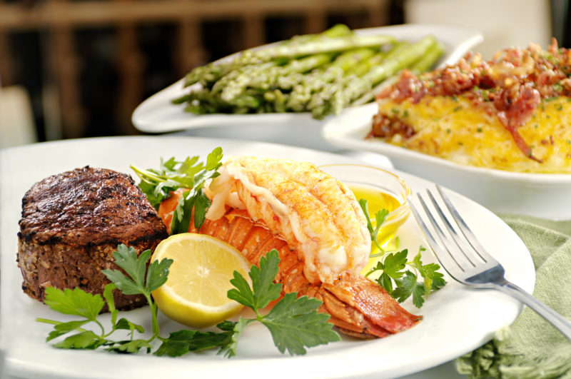 Steak and Lobster at Roaring Fork NYE celebration