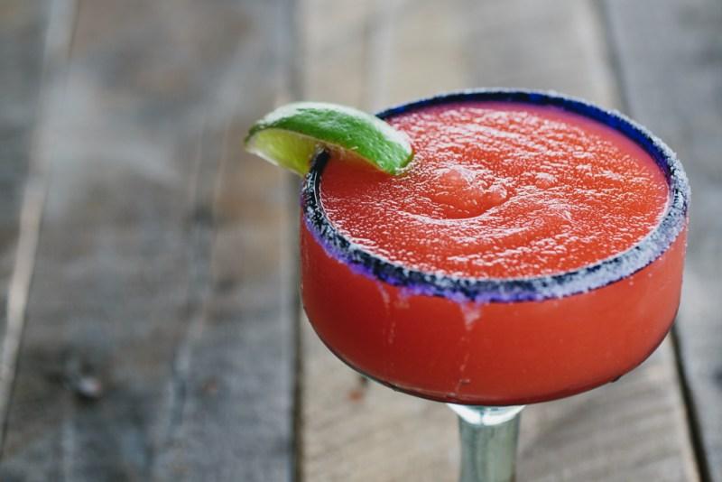 Someburros Frozen Strawberry Margarita