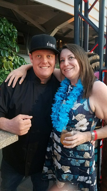 Phoenix Bites contributor Shoshana Leon with Chef Beau MacMillan at the inaugural Nirvana Food and Wine Festival in April 2017 at Sanctuary on Camelback Resort and Spa in Paradise Valley.