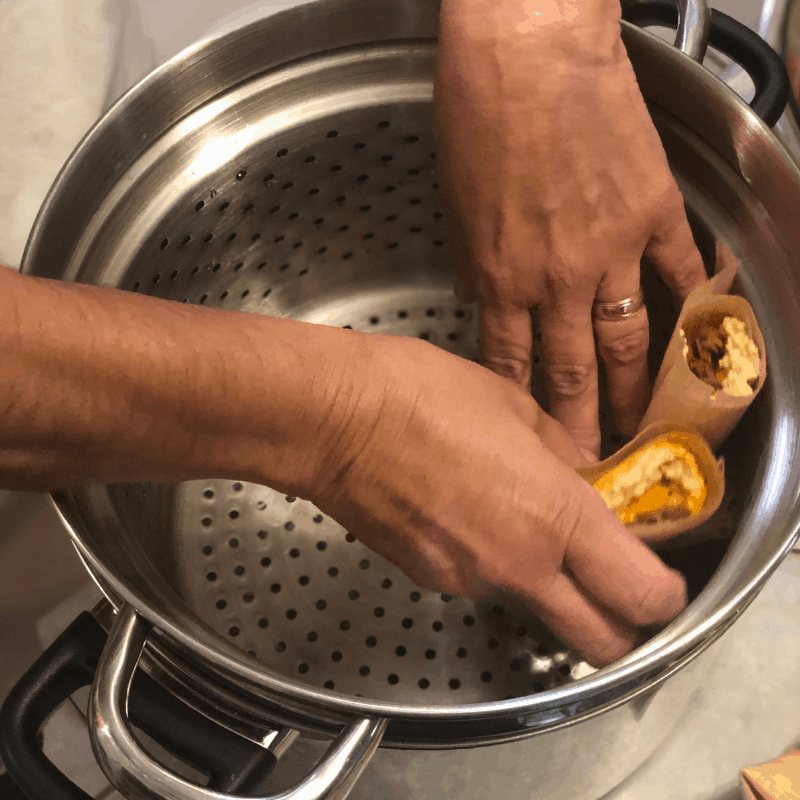 121618 tamales to be steamed