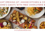 St. Amand Kitchen & Cocktails welcomes guests with free charcuterie board