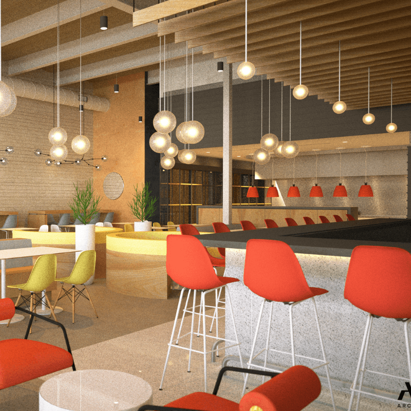 OEB Breakfast Co. Interior Rendering