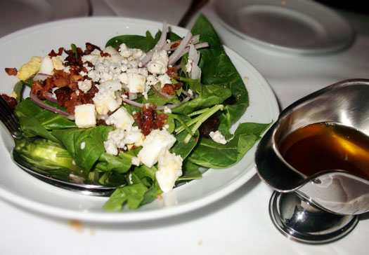 New Restaurant Open at Scottsdale Quarter: Dominick's Steakhouse: Spinach Salad