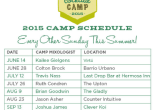 Summer Cocktail Camp Schedule