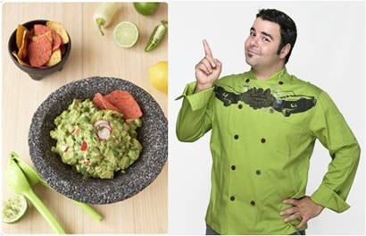 George Duran's Recipe for Crunchy Herbed Guacamole: