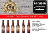 National Beer Day Special at Arcadia Premium