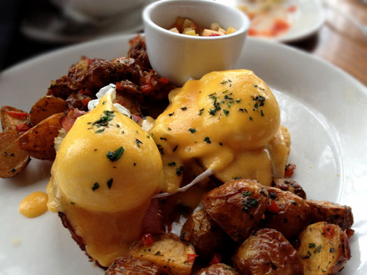 Spicy Tasso Cajun Ham and Eggs Benedict
