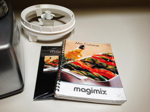 Instructional manual with recipes and DVD