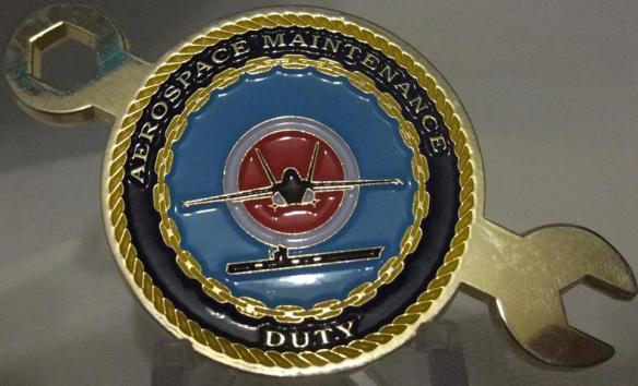Navy AMDO coin CVW-17 Deployment CAGMO Coin back