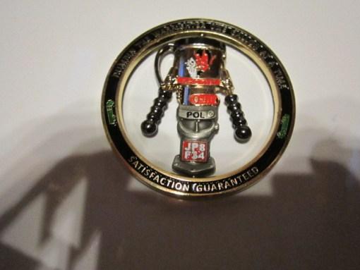 USAF 99th POL flight Nellis USAF Spinner coins