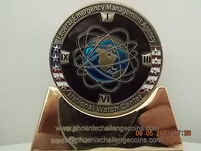 FEMA National Watch Center Custom Challenge Coin back