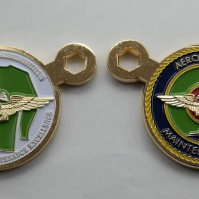 US Navy Green shirt AMDO Commander's coin CV-17 USS Carl Vinston