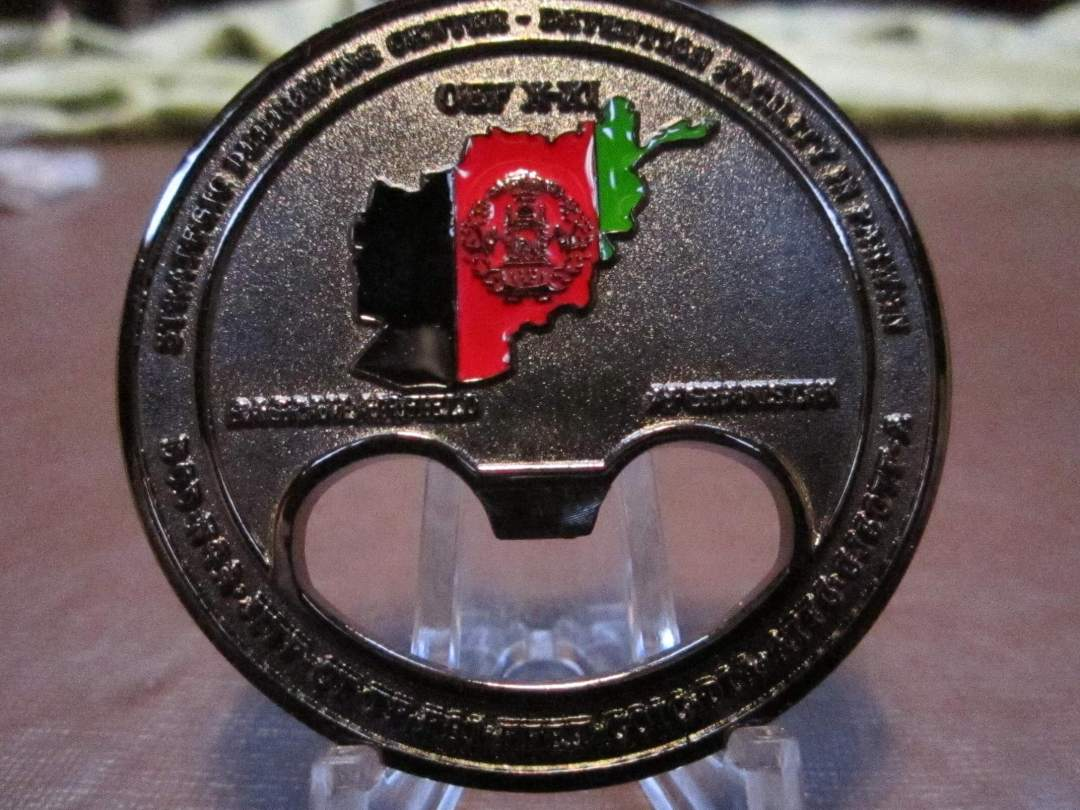 Rare RC-E Strategic Intelligence Debriefing Ctr Parawan bottle Opener By Phoenix Challenge Coins