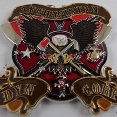 Shindand FD Afghanistan Custom Fire Coin By Phoenix Challenge Coins back