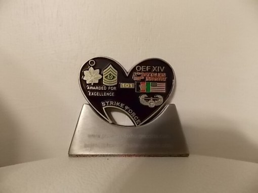 2-502 IN REGT Battalion Command TEAM DEPLOYMENT Bottle Opener Challenge Coins by Phoenix Challenge Coins back