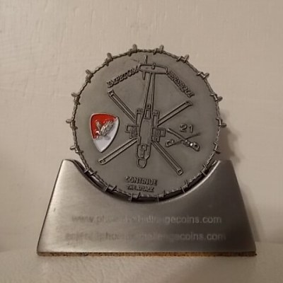 2-1 Air Cav Custom Unit Coin By Phoenix Challenge Coins back