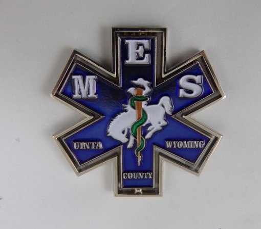 Uinta EMS WY Spinner Custom EMS Coin by Phoenix Challenge Coins