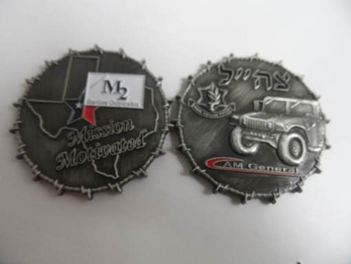 M2 Services IDF 3D Barbed Wire Edge Custom Coin by Phoenix Challenge Coins