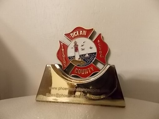 Ocean County NJ Fireman's LODD Coin 2014 by Phoenix Challenge Coins
