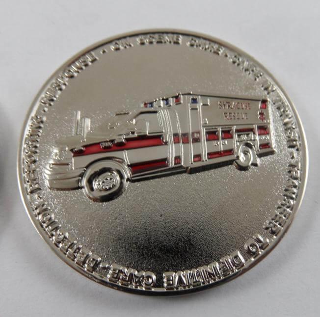 Rare Syracuse, NE EMS custom EMS coin by Phoenix Challenge Coins