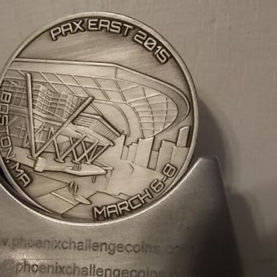 PAX East 2015 Challenge Coins by Phoenix Challenge Coins back
