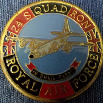 UK Royal Air Force 24 Squadron challenge coin back