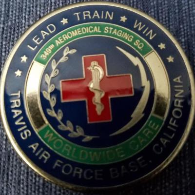 349th Aeromed Staging Sqdn USAF Coin