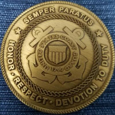 Rare US Coast Guard Electronic Systems Support Cleveland Office Challenge Coin
