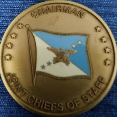 Chairman of the Joint Chiefs of Staff Challenge Coin back