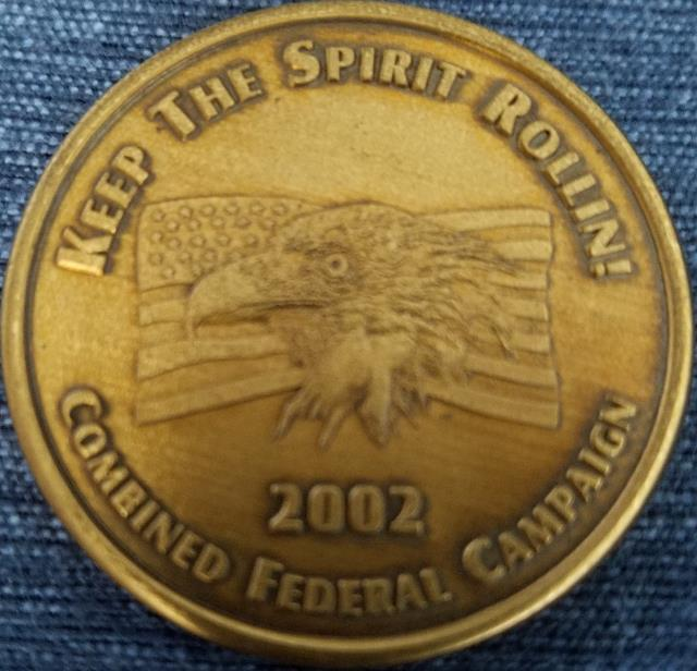 Combined Federal Campaign 2002 Okaloosa and Walton Counties Challenge Coin back