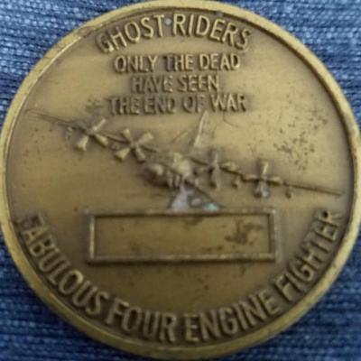 Rare AFSOC 16th SOS AC-130U Spectre Gunship Challenge Coin back